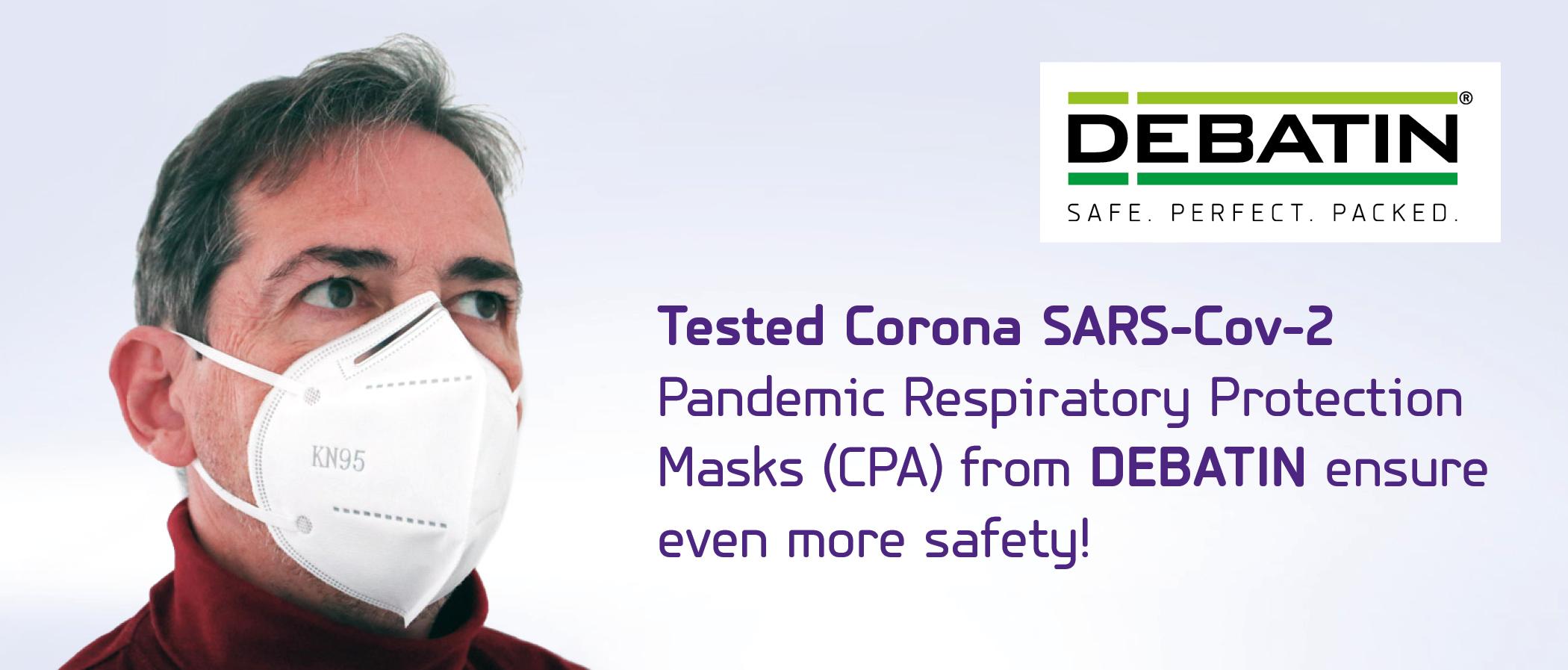 DEBAMED Certified SARS-CoV-2 face masks