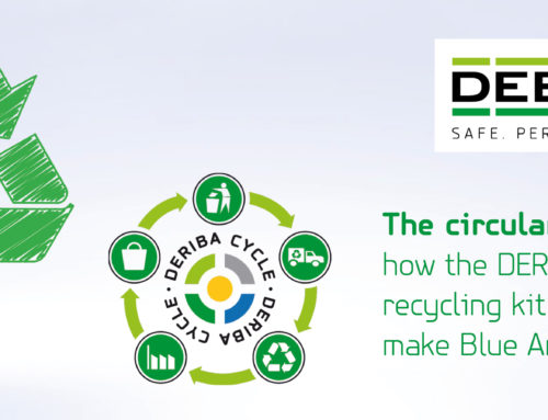 Collect your used film with our DERIBA recycling kit and help us keep the circular economy wheel turning in our DERIBA CYCLE®!